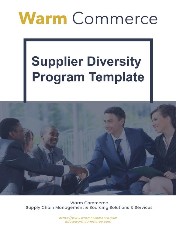 Free Supplier Diversity Program Template