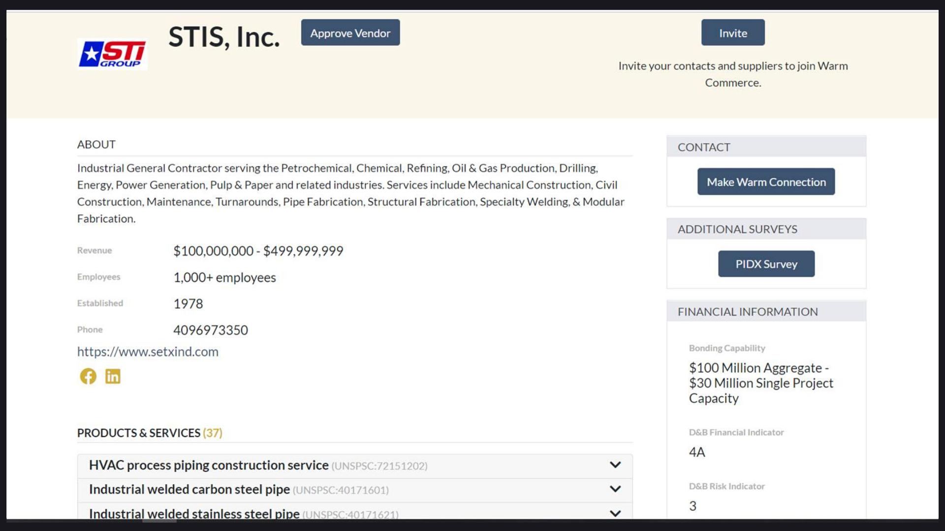 Supplier information management