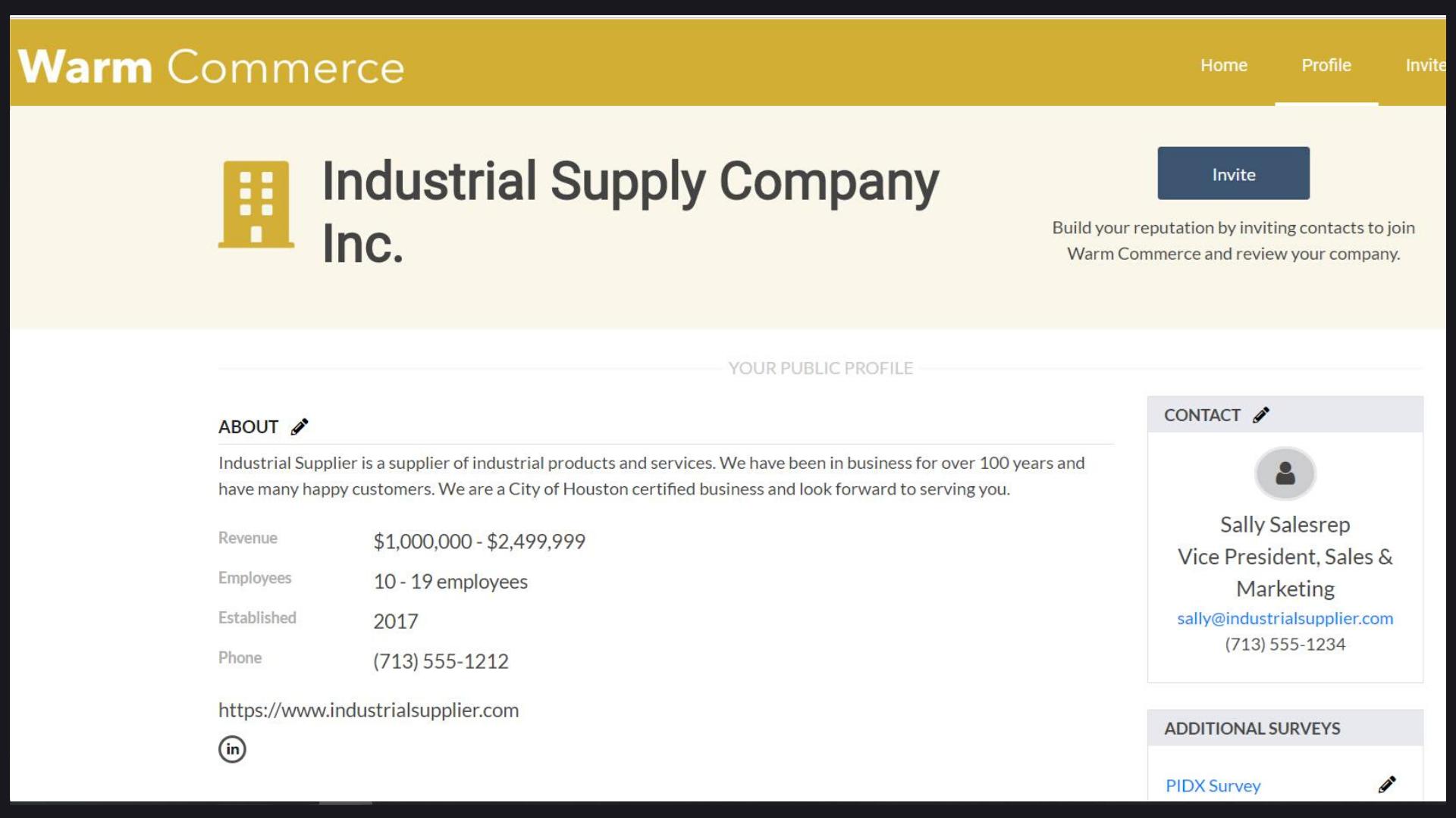 Supplier profile-1